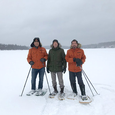 Brothers and Sons on the frozen lake, Feb 2017